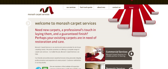 View Information about Monash Carpet Services