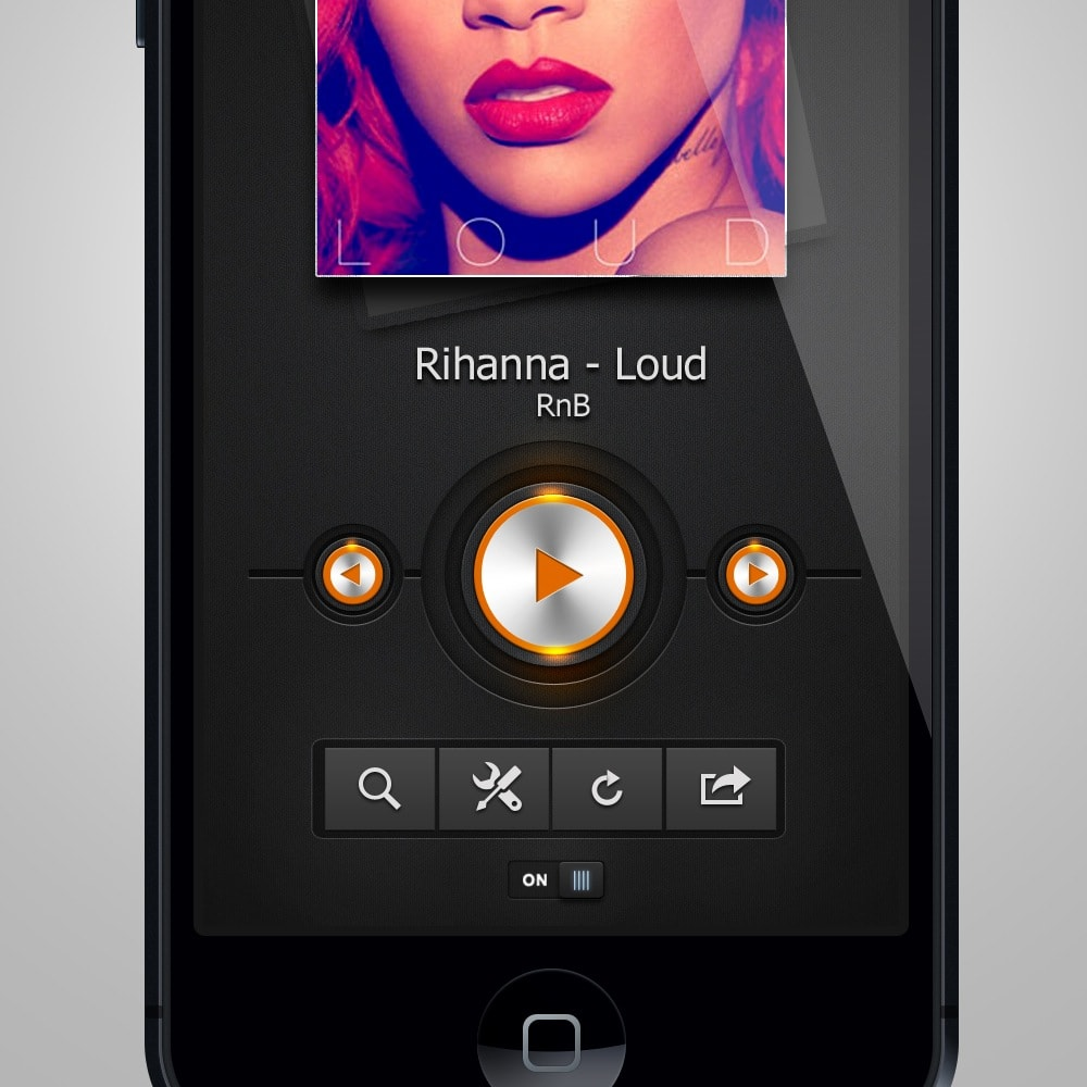 Go To Music Player App Interface