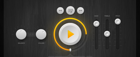 View Information about Music Player Interface