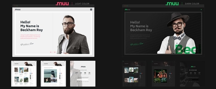 muu creative resume and portfolio template