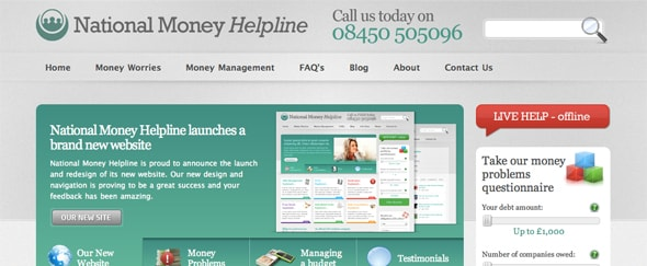 View Information about National Money Helpline