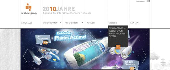 View Information about Netzbewegung