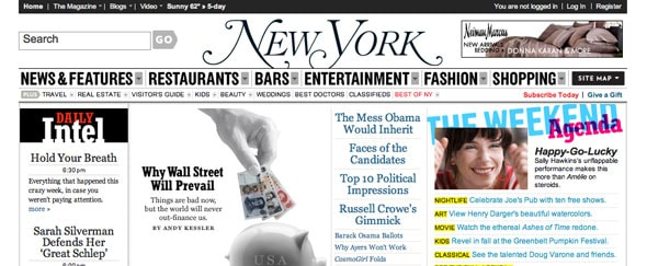 View Information about Nymag