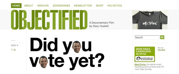 View Information about Objectifiedfilm