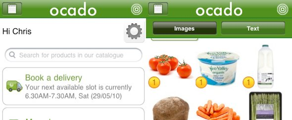View Information about Ocado for iPhone