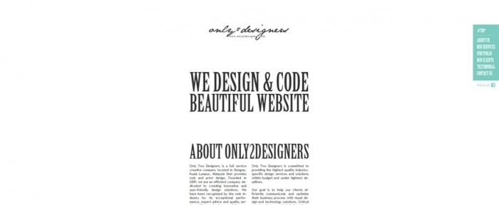 View Information about Only Two Designers