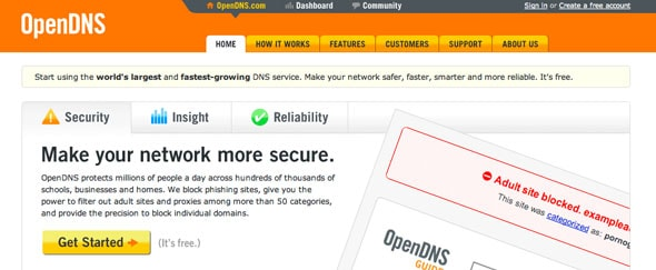 View Information about Opendns
