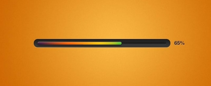 Go To Orange and Black Progress Bar