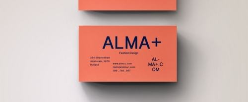 View Information about Orange Graphic Business Card