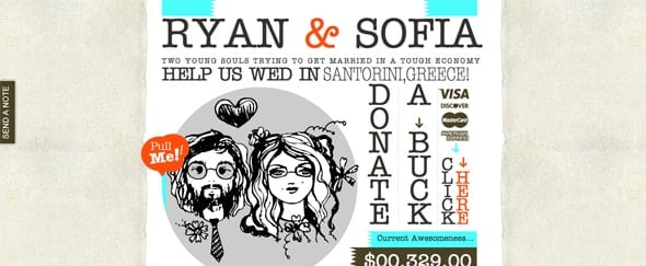 View Information about Our Dollar Wedding