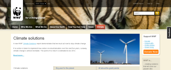 View Information about WWF