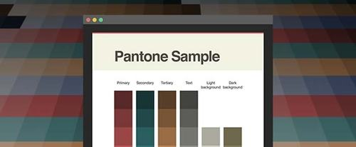 View Information about Pantone Sample