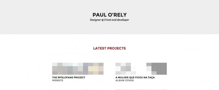 View Information about Paul O'Rely — Designer & Front-end developer