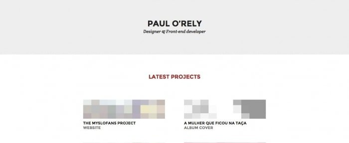 Go To Paul O'Rely — Designer & Front-end developer
