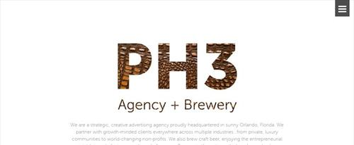 View Information about PH3 Agency + Brewery