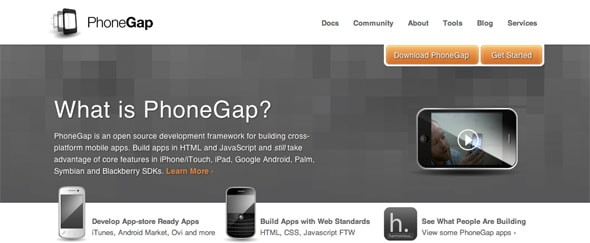 View Information about PhoneGap