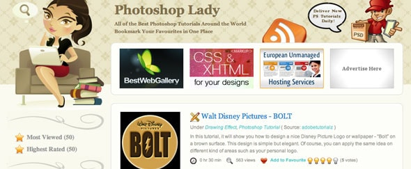 View Information about Photoshop Lady
