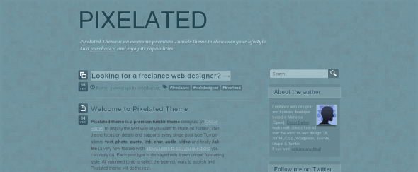 View Information about Pixelated Theme