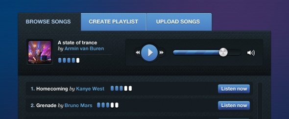 View Information about Playlist Widget