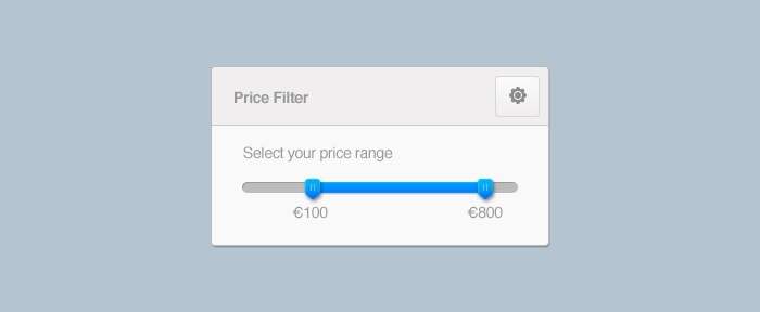 View Information about Price Range UI