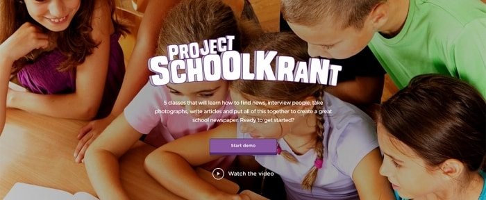 View Information about Project Schoolkrant
