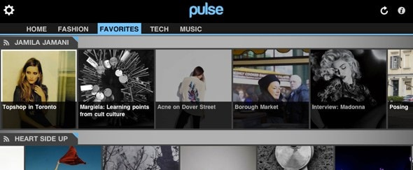 Go To Pulse News Reader for iPad