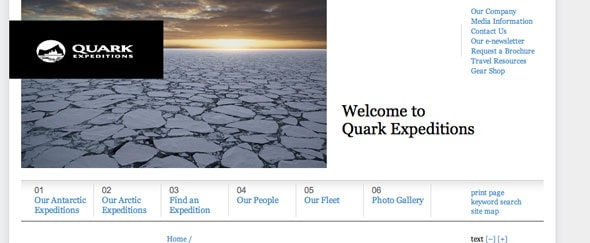 View Information about Quark Expeditions