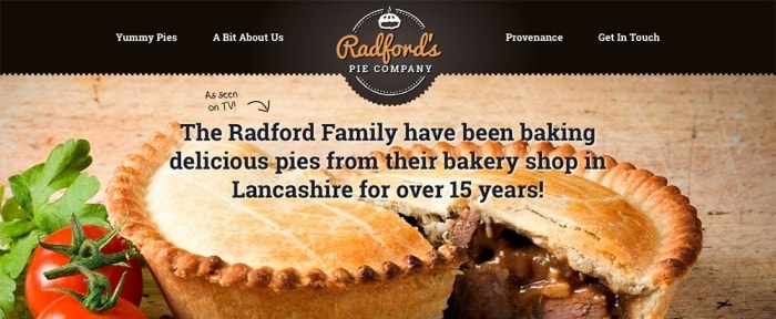 Go To Radford's Pie Company