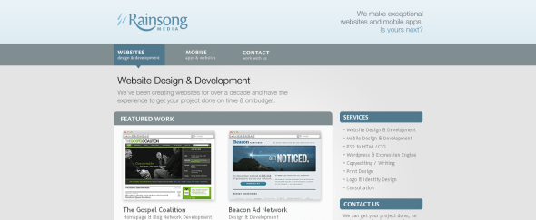 View Information about Rainsong Media