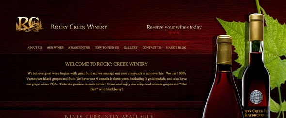 View Information about Rockycreekwinery