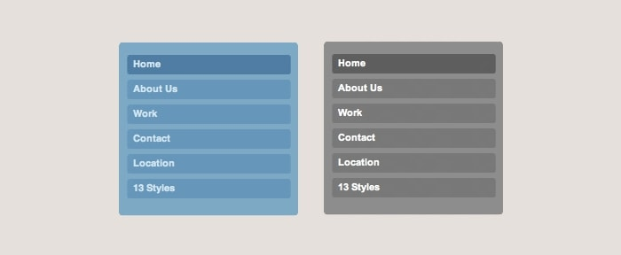 Go To Rounded CSS Menu