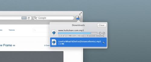 View Information about Safari Download Manager