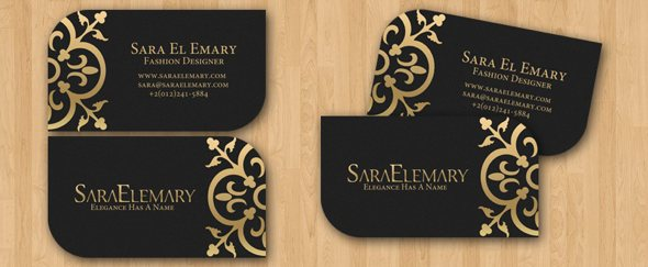 business card fashion designer - Khafre