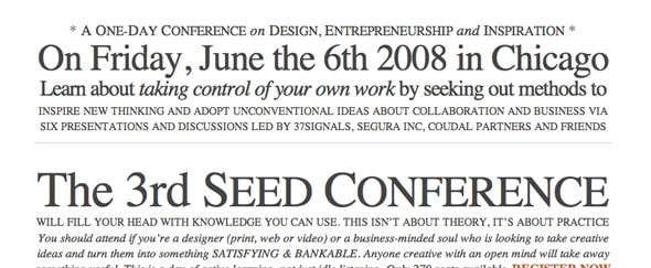 View Information about Seed Conference