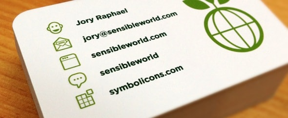 Go To Sensible World Business Card