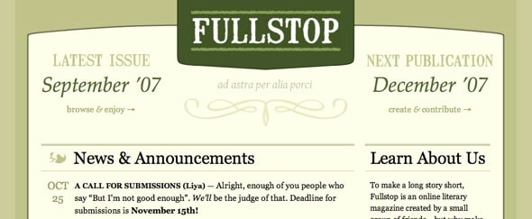 View Information about Fullstop