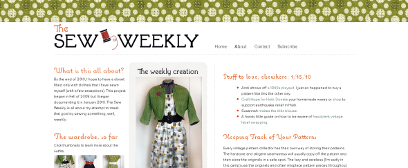 View Information about Sew Weekly