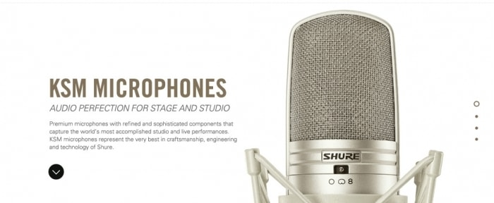 View Information about Shure KSM Microphones