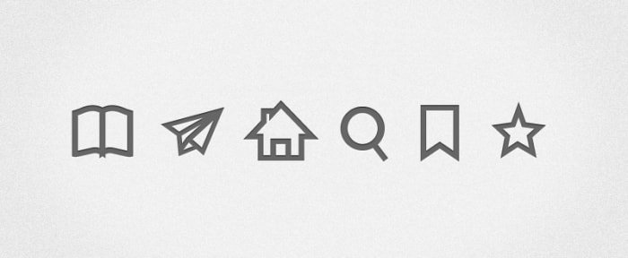 Go To Simple Grey Icons