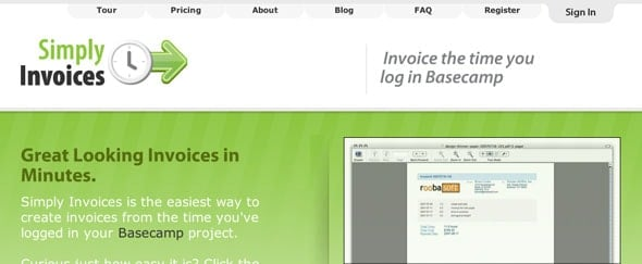 View Information about Simply Invoices