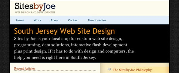 View Information about Sites by Joe