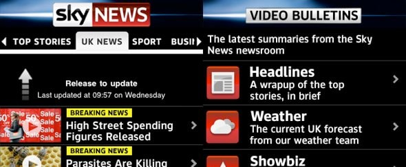 View Information about Sky News