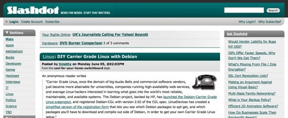 View Information about Slashdot