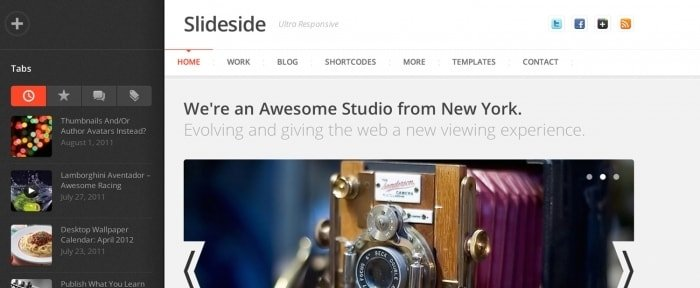 View Information about Slideside Responsive Theme