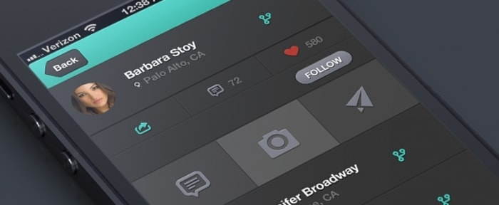 View Information about Social App Design