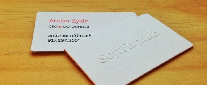 Softfacade business cards design shack go to softfacade business cards colourmoves Choice Image