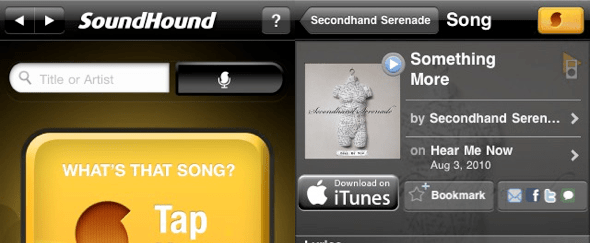 View Information about SoundHound