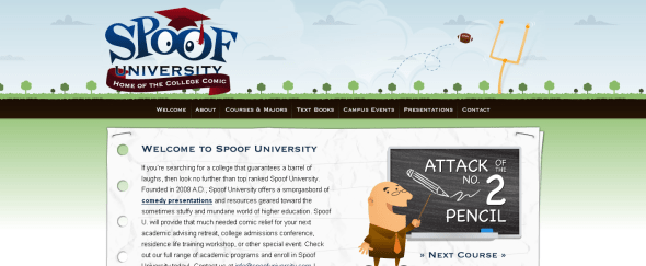 View Information about Spoof University