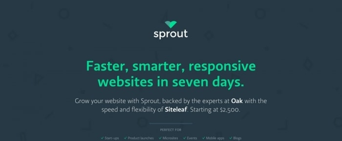 View Information about sprout is