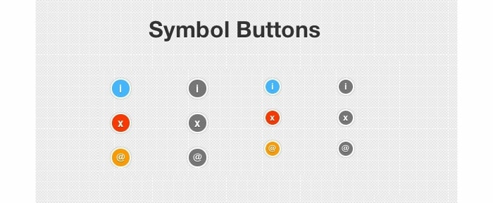 View Information about Symbol CSS Buttons